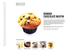 Diary of a Baked Goods Lover by Michelle Lee, via Behance Bakery Website, Food Web Design, Michelle Lee, Chocolate Muffins, Baked Goods, Behance, Banana, Tasty, Snacks