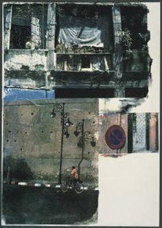 ¤ Robert Rauschenberg - print, collage of cityscape images Robert Rauschenberg, Collages, Collage Art, Paul Klee, Edward Hopper, David Hockney, Artist Workshop, Pop Art Movement, A Level Art