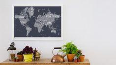 World Type Map – Bold & Noble