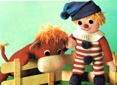 The Splendid Soft Toy Book. Originally published in 1973 by Christophorus- Verlag Herder GmbH Vintage Knitting, Vintage Sewing, Yarn Bombing, Retro Toys, Vintage Crafts, Hobbies And Crafts, Kitsch, Crochet Patterns, Teddy Bear