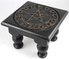 Pentacle Altar Table Small Square Pentagram Altar Table Wiccan Pagan