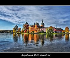 Gripsholm Castle on the shore of Lake Mälaren in Mariefred, municipality of Strängnäs, Sweden.