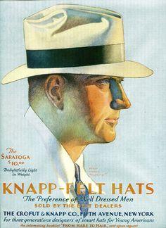 1929 Men's Knapp-Felt Hat of the Month