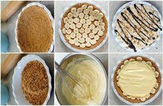 Μπανανόπιτα με φυστικόβουτυρο...την λιγουρεύεστε -   Συνταγή   Xrysoskoufaki.gr Pudding, Pie, Desserts, Food, Flan, Torte, Postres, Tart, Puddings