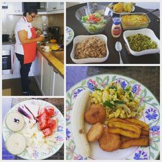 Our chief Ms. Michele did an amazing job!!! Ackee and saltfish fried dumplings plaintains fresh fruit curry chicken rice and peas and baked mac-n-cheese. #personalcook #jamaicanfood #ilovefood #live #inspire #travel #litvacations by liveinspiretravel