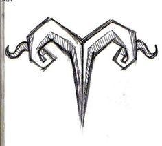 Zodiac Aries Symbol Tattoo Drawing | Tattooshunter.com