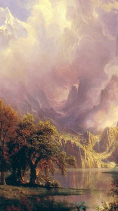 Albert Bierstadt Classic Painting Art iPhone Wallpapers
