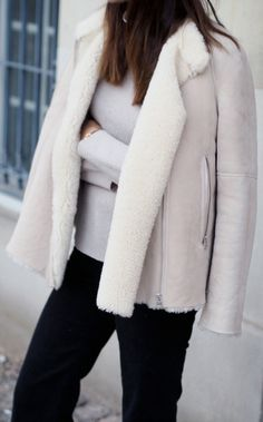 Draped sheepskin coat | Luxury Women's shop_all | Karen Millen ...