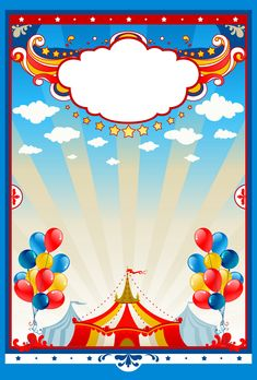 Illustration of Circus tent background with space for text vector art, clipart and stock vectors. Carnival Themed Party, Carnival Birthday Parties, Circus Birthday, Birthday Celebration, Party Themes, Carnival Invitations, Toy Story Invitations, Birthday Invitations, Clown Party