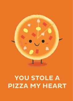 You Stole A Pizza My Heart, an art print by Krizia Lim Funny Food Puns, Food Jokes, Food Humor, Kayla Itsines, Food Captions, Kids Nutrition, Nutrition Quotes, Nutrition Activities, Vegan Nutrition