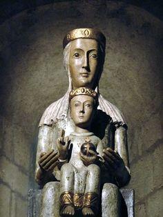 Belleville (69-Rhône) - lieux sacrés Madonna, Mother Of Christ, Medieval, Romanesque Art, Art Roman, Lady Of Mount Carmel, Religion, Mystique, Holy Mary
