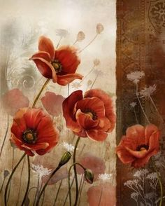 Art Print: Wild Poppies II by Conrad Knutsen : 28x22in