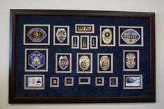 Custom frame badges as a lovely retirement gift for the police officer in your life.