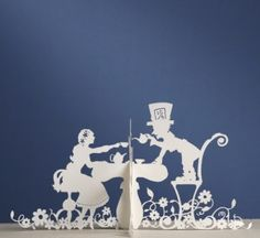 Mad Hatter's Tea Party - Paper Cuts #Alice in Wonderland #papercut