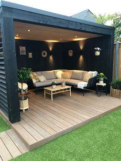 Backyard Seating, Outdoor Pergola, Small Backyard Landscaping, Outdoor Decor, Outdoor Rooms, Backyard Bar, Garden Seating Areas, Outdoor Garden Bar, Outdoor Living