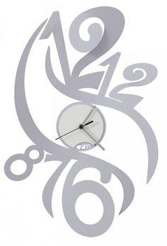 Zegar ścienny FENICE Srebrny - Arti&Mestieri - DECO Salon #clock #wallclock #giftidea