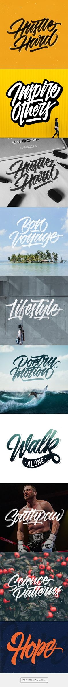 Hand-lettering set #3 by Azam Ramadhan