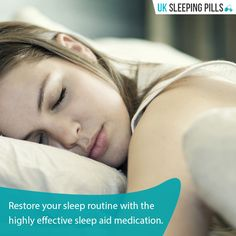 Restore your sleep routine with the highly effective sleep aid medication.