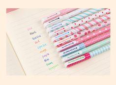 Estojo Canetas em Gel - kit com 10 cores + estojo - Escrivaninha Virtual