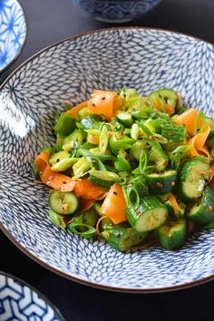 Smashed Cucumber and Carrot Salad (Whole30, Low Carb) - Nom Nom Paleo® Paleo Whole 30, Whole 30 Recipes, Cucumber Carrot Salad, Cucumber Recipes, Clean Eating, Healthy Eating, Healthy Meals, Healthy Life, Yummy Recipes