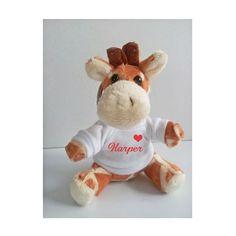Personalised Giraffe keyring, Animal keyring, Soft Toy Keyring by cjcprint on Etsy