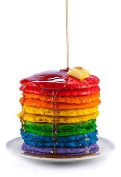 rainbow hotcake