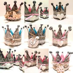 © by Silke Fraune Soda Can Crafts, Cute Crafts, Tin Can Lanterns, Diy Crown, Mardi Gras Beads, Light Crafts, Decorative Storage, Recycled Art, Upcycle
