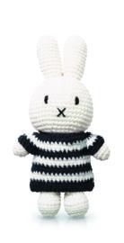 Beautiful handmade crochet Miffy doll wearing a mono striped dress. Granny Square Crochet Pattern, Crochet Patterns, Miffy, Pet Toys, Hello Kitty, Dolls, Handmade, Crafts, Animals
