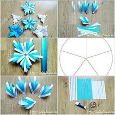 Ideas For Origami Christmas Tree Diy Paper Snowflakes Happy New Year Paper Flowers Craft, Quilling Paper Craft, Paper Crafts Origami, Flower Crafts, Origami Christmas Tree, Christmas Paper Crafts, Noel Christmas, Paper Snowflakes, Paper Stars