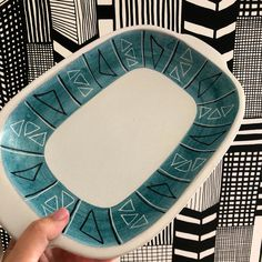 Excited to share this item from my shop: AJ Höganäs serving baking dish oven safe casserole Sweden midcentury modern hand painted Midcentury Modern, White Brand, 2 Colours, Sweden, Casserole, Oven, Stamp, Hand Painted, Turquoise