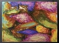 oil pastels on acetate.  We've done that before, but this lesson uses a backing of foil paper, which should look really nice.