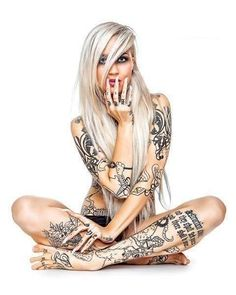 Sara Fabel is a beautiful blonde tattoo pin up model located in the United States. Super hot long legs and blonde hair. Tattoo Girls, Girl Tattoos, Tatoos, Sexy Tattoos, Body Art Tattoos, Tattoos For Women, Tattooed Women, Tattoo Ink, Lost Tattoo