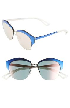 Dior 'Mirrors' 55mm Cat Eye Sunglasses available at #Nordstrom