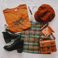 Teen Fashion Outfits, Retro Outfits, Cute Casual Outfits, Outfits For Teens, Fall Outfits, Chicken Sweater, Look Girl, Looks Plus Size, Mode Streetwear