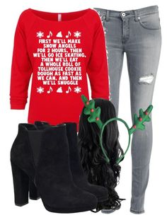 """""""Christmas!!!!"""" by carmellahowyoudoin ❤ liked on Polyvore featuring Dondup, Christmas2015 and christmasbabes"""