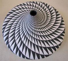 Spiral triangles by Dorothy Torivio, Acoma Pueblo, New Mexico