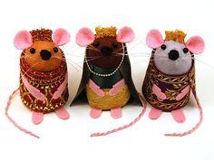 Felt Nativity ornaments animals   Nativity Set 3 Kings three wise men Christmas cute felt mice mouse ...