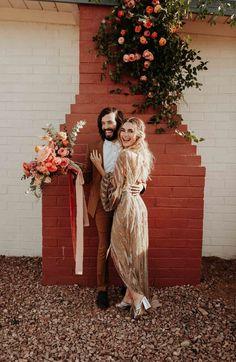 This Rose Gold Joshua Tree Wedding Inspiration is Like a Boho Glam Fever Dream | Junebug Weddings