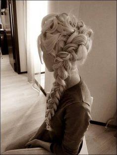 Elsa hairstyle   We Heart It