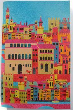 Diseño de Macrina Busato realizado en exclusiva para el Museo Thyssen-Bornemisza. Inspirado en El Arno en el puente Santa Trínita, c.1741, de Giuseppe Zocchi.    Exposición Arquitecturas Pintadas, del 18 de octubre de 2011 al 22 de enero de 2012