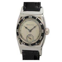 Hamilton White Gold Piping Rock Wristwatch circa 1929 | From a unique collection of vintage wrist watches at http://www.1stdibs.com/jewelry/watches/wrist-watches/