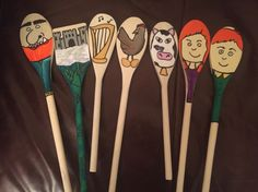 Jack and the beanstalk story spoons