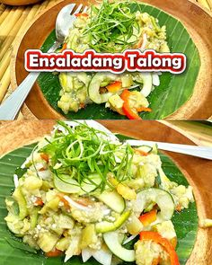 Ensaladang Talong Recipe (Eggplant Salad) is an excellent companion side dish to inihaw na baboy, fried pork chops and daing na Bangus. Filipino Vegetable Recipes, Filipino Food, Filipino Recipes, Vegetarian Recipes, Cooking Recipes, Healthy Recipes, Eggplant Health Benefits, Fruits And Veggies