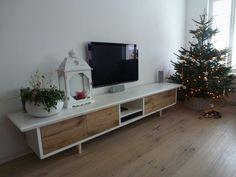 TV Cabinet, Oak Wood, White Painted Wood, www.hansknepper.nl