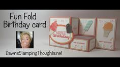 Card Making Tips, Card Making Tutorials, Card Making Techniques, Making Ideas, Fancy Fold Cards, Folded Cards, Pop Up Cards, Cool Cards, Dawns Stamping Thoughts