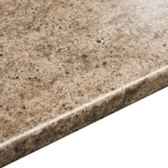 38mm B&Q Cappuccino Stone Solid Surface Round Edge Kitchen Worktop: Image 1
