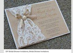 Resultado de imagen para invitaciones de boda con encaje
