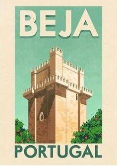 Beja - Ilustração de Rui Ricardo - Beja y Arrabaldes