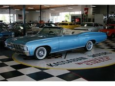 1967 Chevrolet Impala convertible in Marina Blue Chevrolet Impala, 67 Impala, Convertible, Marina Blue, Pontiac Bonneville, Classic Chevrolet, Car Show, Buick, Old Cars