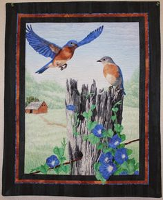 """The Rest Stop"", 24"" x 30"", by Jan Reed.  Mountain Art Quilters: September 2014 Show and Tell"